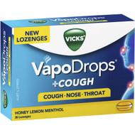 Vicks Vapodrops + Cough Lozenges Honey Lemon 2x36CT | Fairdinks