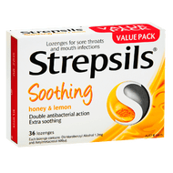 Strepsils Honey & Lemon Lozenges 2 x 36 Count   Fairdinks