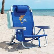 Tommy Bahama Backpack Beach Chair - Blue Marlin | Fairdinks