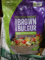 Chef's Choice Organic Brown Bulgur 2KG | Fairdinks