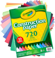 Crayola Construction Paper 720 Sheets/ 12 Colours
