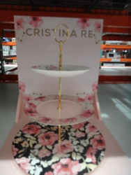 Cristina Re 3 Tier High Tea Stand Floral | Fairdinks