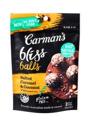 Carman's Salted Caramel & Coconut Bliss Ball with Roasted Cashews 40 x 20G | Fairdinks