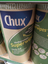 Chux 100% Biodegradable Super Wipes Super Absorbent Reusable
