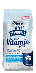 Devondale Vitamin Plus Reduced Fat Instant Milk Powder 1KG | Fairdinks