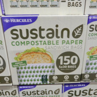 Hercules Sustain Compostable Sandwich Bags 150CT | Fairdinks