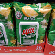 Ajax Eco-Respect Multi Purpose Wipes Lemon 110PK | Fairdinks