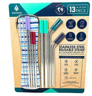 Manna Stainless Steel Straw Set 13 PCS | Fairdinks