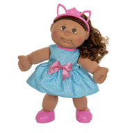 "Cabbage Patch Kids 14"" Dolls - Girl Med Bro Bro Blue Polk-a-Dots 