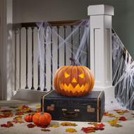 Halloween Pumpkin With Flickering LED Light   Fairdinks