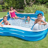 Intex Family Lounge Pool 2.29M x 2.29M x 66CM | Fairdinks