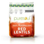 Puresoul Red Lentils 3KG | Fairdinks