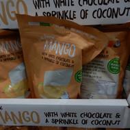 Tropical Fields White Choc Dipped Mango 400G | Fairdinks