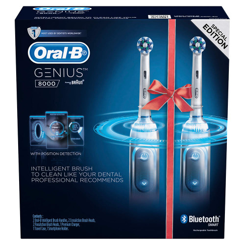 Oral-B Genius 8000 Dual Handle Electric Toothbrush | Fairdinks
