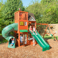 Cedar Summit Hilltop Swing Set Play Center | Fairdinks