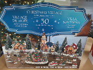30pc Holiday Village with Led Musical Tree