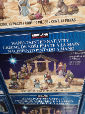 Kirkland Nativity Hand Painted 13 piece