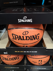 Spalding NBA Basketball Replica Silver Size 7
