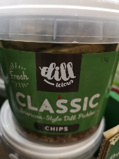 Dillicious Classic Pickle Chips 1.1kg