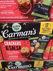 Carmans Crackers & Salsa Snacks 12 x 50g
