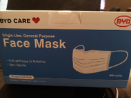 BYD Care Face Mask 3 Layer 50 pack