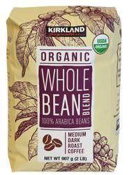 Kirkland Signature Organic Whole Bean Blend Coffee 907G | Fairdinks