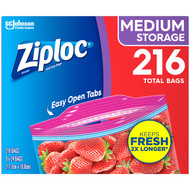 Ziploc Medium Storage Bags 9 x 24CT | Fairdinks