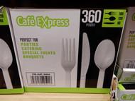 Cafe Express Plastic Cutlery Combo 360PCS | Fairdinks