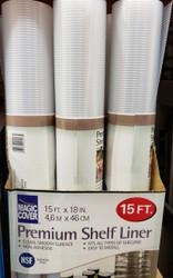Magic Cover Premium Shelf Liner, 45.72cm x 4.57m | Fairdinks