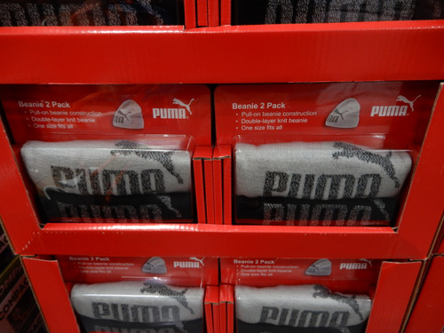 Puma Beanie 2PK One Size Fits All   Fairdinks