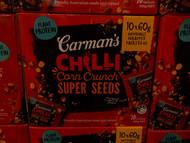 Carman's Chilli Corn Crunch Super Seeds | Fairdinks