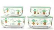 Pyrex Star Wars The Mandalorian Glass Food Storage Set 8 Piece | Fairdinks