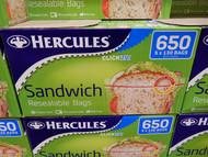 Hercules Sandwich Resealable Bags 650CT | Fairdinks