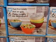 "Signature Housewares Pad Print 6"" Bowls 6 Pack | Fairdinks"