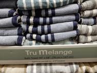 Tru Melange Heathered Stripe Towels Size: 76CM x 17CM | Fairdinks