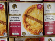 Temptation Bakeries Slow Cooked Chunky Beef & Red Wine Pies 2 x 750G | Fairdinks