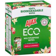 Ajax ECO Multipurpose Wipes Vanilla & Berries 4 x 110PK | Fairdinks