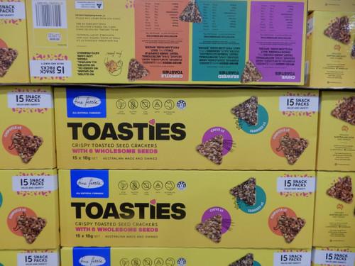 Fine Fettle Toasties Crackers 15 x 18G | Fairdinks