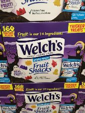 Welch's Halloween Fruit Snacks Fun Size Pouches 160 x 14g