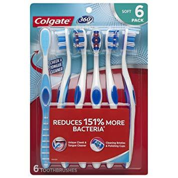 Colgate 360 Degree Toothbrush 6 Pack   Fairdinks