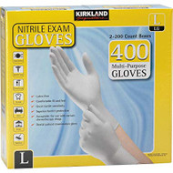 Kirkland Signature Nitrile Exam Gloves Large 2 x 200 Count | Fairdinks