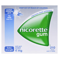 Nicorette Icy Mint Gum Ext Strength 4 MG Nicotine x 210CT | Fairdinks