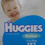 Huggies Nappies Walker Boy 132 Count. 13 to 18 KG | Fairdinks