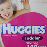 Huggies Nappies Toddler Girl 148 Count. 10 to 15 KG | Fairdinks
