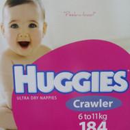 Huggies Nappies Crawler Girl 184 Count | Fairdinks
