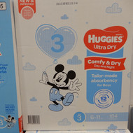 Huggies Nappies  Size 3 Crawler Boy 184 Count