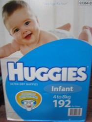 Huggies Nappies Infant Boy 192 Count | Fairdinks