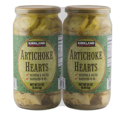 Kirkland Signature Marinated Artichoke Hearts 2 x 940g   Fairdinks