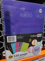 Marbig A4 Colour Hide Notebook 120 Pages (Pack of 5) | Fairdinks