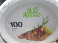 Cafe Express Plastic Plates 23cm 100 count | Fairdinks